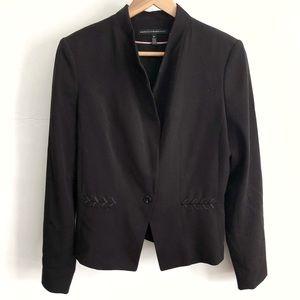 WHBM Black Blazer Suit Jacket w/ Stitching-Size 10
